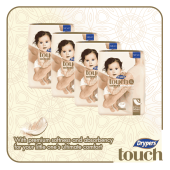 Drypers Touch Mega Pack Large 54's (4 packs)