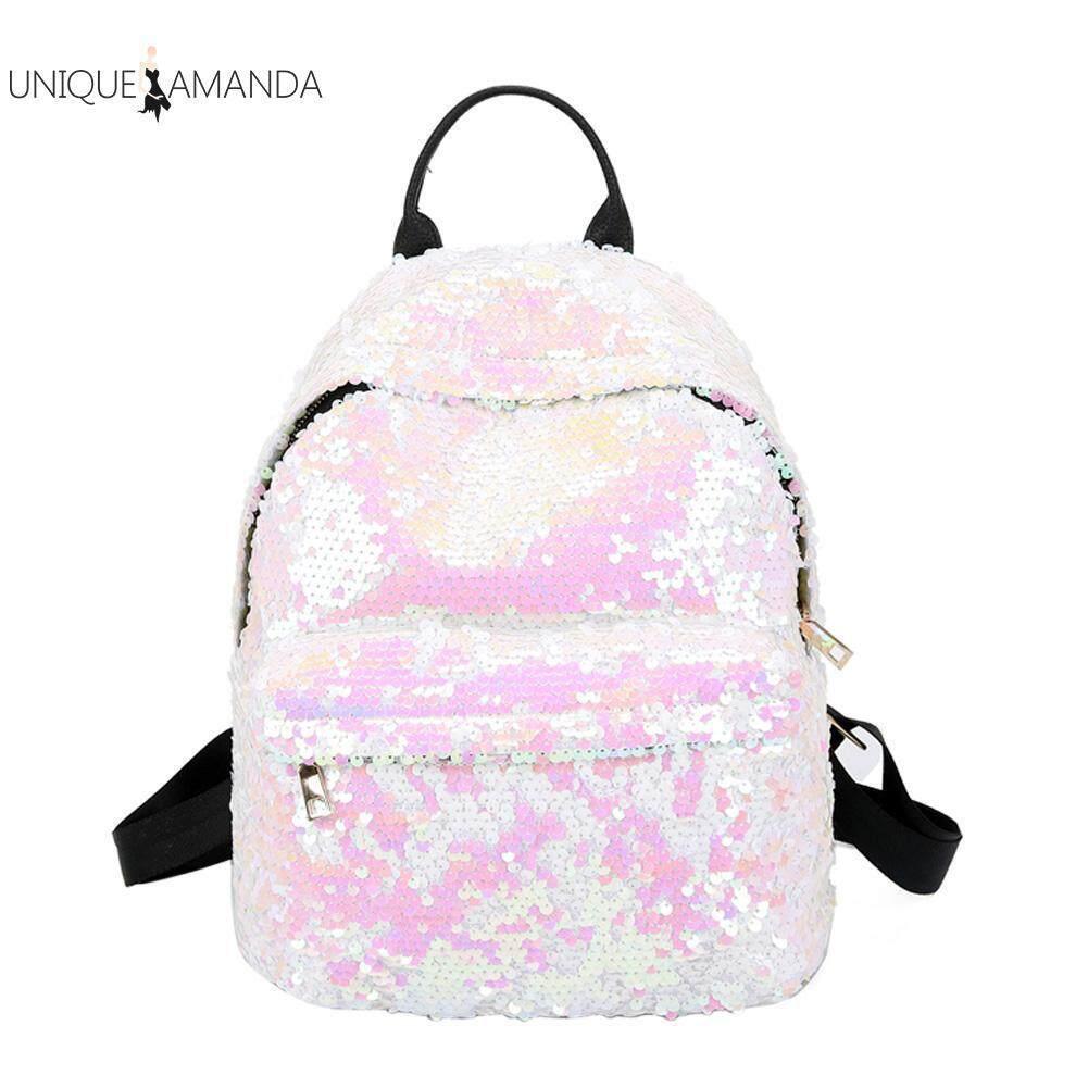 Fashion Sequins Women PU Backpacks Glitter Large Girls School Travel Shoulder Bags - intl Singapore