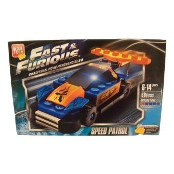 Fast And Furious Build Your Own Vehicle ~ Speed Patrol (68 Pieces;Official Movie Merchandise) - intl