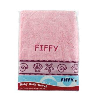 FIFFY 100% Cotton Baby Bath Towel (Red)