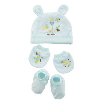 FIFFY Baby Bonnet Set (Blue)