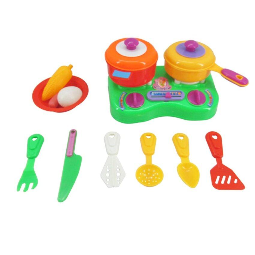 Kitchen Set Lazada: Kids Dessert Mini Market Play Set With Trolley (Blue