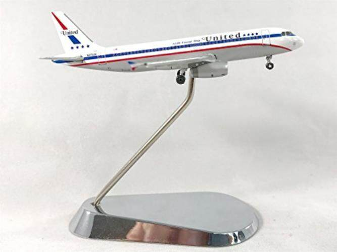 Geminijets United Maskapai Penerbangan Airbus A320-200 Diecast Model Pesawat N475UA dengan Krom Penyangga 1:400 Skala Bagian # GJUAL1061-Internasional