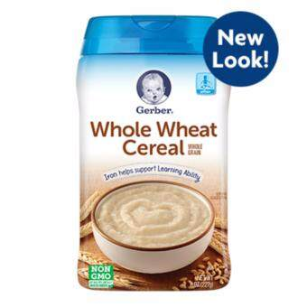 Gerber Whole Grain Whole Wheat Cereal 227g (Expiry Date: AUG 2018)