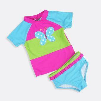 Girl Swimsuit Two-piece Swimwear Baby Summer Children Swim Suit