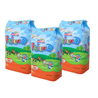 Goo.N Friend Pants Super Jumbo [ L Size 48pcs x3 ] (GooN Doraemon Edition Diapers Pampers Nappies Lampin Baby Product)