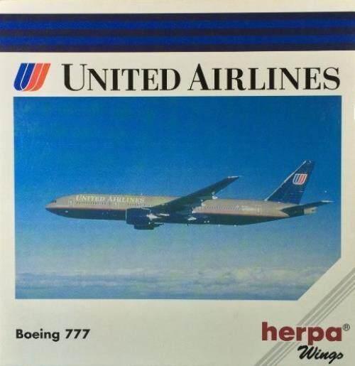 Herpa 506328 United Maskapai Penerbangan Ual Boeing 777 1:500 Model Diecast Skala-Internasional