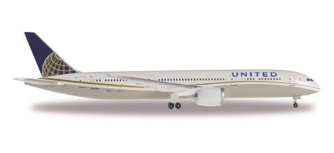 Herpa Wings 528238-001 United Airlines Boeing 787-9 Dreamliner 1/500 Scale Model - intl