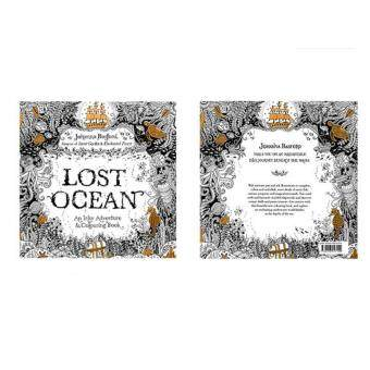Harga Coloring Painting Book Secret Garden Kid Adult Anti Stress Lost Ocean