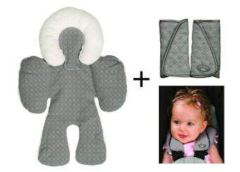 JJ Cole Bundle Of Reversible Head And Body Support Pillow ForStroller Car Seats Protector Stroller