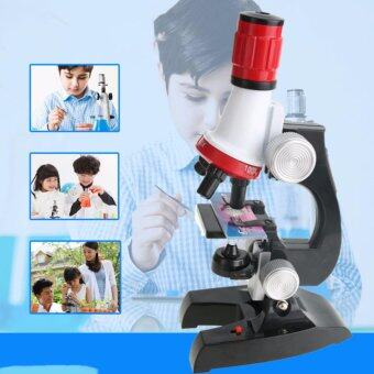 Kids Educational 100-1200X Microscope Kit Science Toy