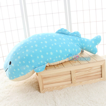 Large White Shark blue whale plush toys birthday gift Cushion