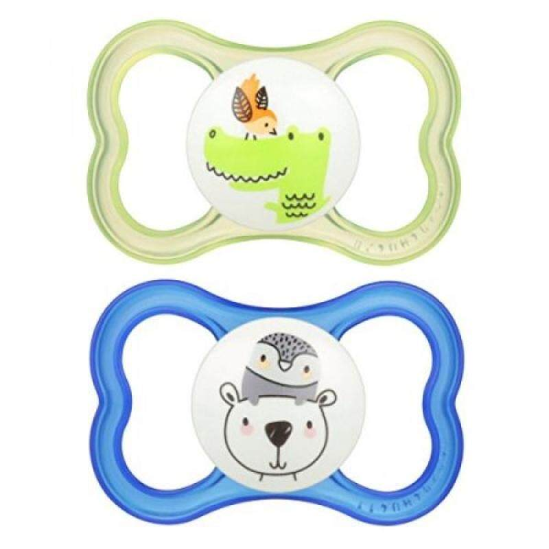 MAM Air Orthodontic Pacifier, Boy, 6+ Months, 2-Count - intl Singapore
