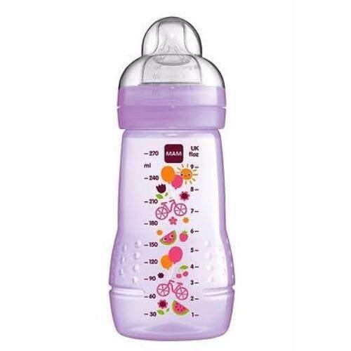 MAM Baby Bottle 270ml (Silk Teat size 2) - PINK   Lazada Malaysia