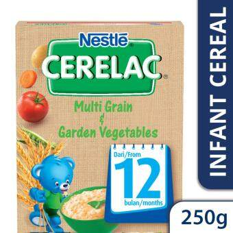 NESTLE CERELAC Multi Grain & Garden Vegetables Infant Cereal Box Pack (1 Pack of 250g)