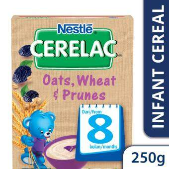 NESTLE CERELAC Oats, Wheat & Prunes Infant Cereal Box Pack (1 Pack of 250g)