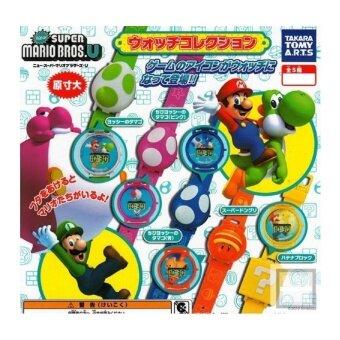 Baru Super Mario Brothers U 20 Cm Jam Tangan Takara Tomy Merah Muda Cangkang Luigi dan Merah Muda Yoshi-Internasional