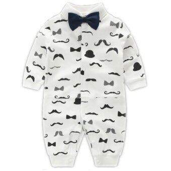 Newborn Cotton Baby Boys Beard Pattern Clothes Baby Rompers Long Sleeve Body Suits Jumpsuits