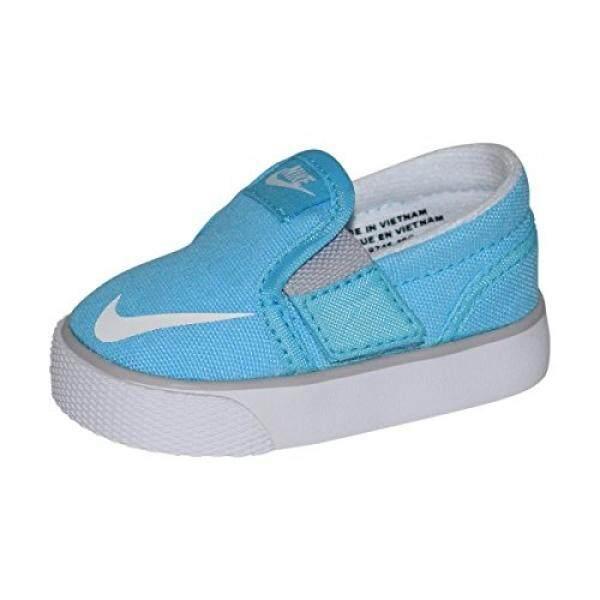 NIKE Balita Toki Selip-ON Kanvas Sneakers (TDV) (7 M AS Balita, clearwater/Putih-Serigala Grey)-Internasional