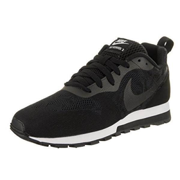 Nike Womens Md Runner 2 BR Black/Black/White Running Shoe 10 Women US - intl