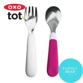 OXO Tot Fork & Spoon Set Pink