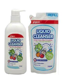 Pigeon 12819 Liquid Cleanser 700ml Pump & Refill 2in1