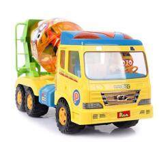 Pororo Remicon Mixer truck Toy with Twinkle lights melody Reflection Gear and Pororo & Friends Character Sticker