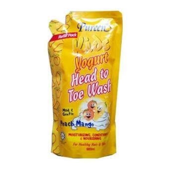 Pureen Kids Yogurt Head To Toe Wash (Peach Mango) 600ml refill pack