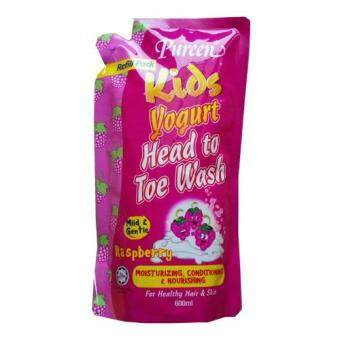 Pureen Kids Yogurt Head To Toe Wash (Raspberry) 600ml refill pack