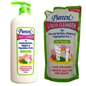 Pureen Liquid Cleanser (no flavour) 750ml + 600ml refill pack