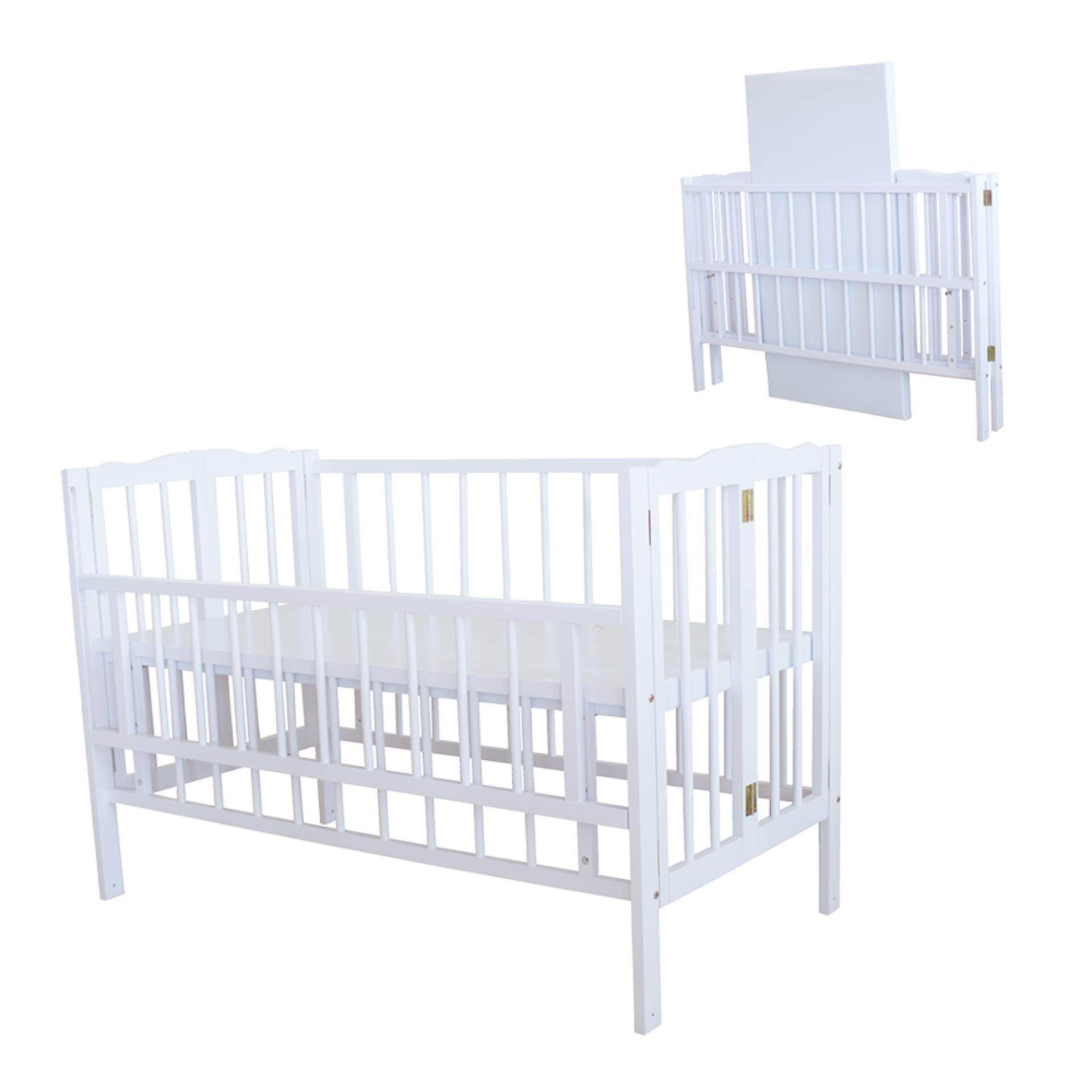 Baby bed malaysia - Royalcot R295 Baby Cot White Off Foldable Cot
