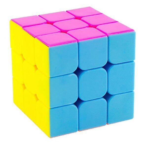 RUBIK 3X3 LINGGAN CLEAR BASE DOT COLOR ORI YONG JUN YJ8503 MAGIC CUBIC RUBIKS BOX 3X3X3