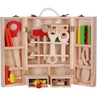 Simulation toys over every family screw knife Tool Box Wood box