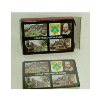Stratford Upon Avon Plastik Dilapisi Souvenir Playing Cards-Shakespeare-Intl