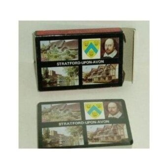 Stratford Upon Avon Plastic Coated Souvenir Playing Cards-Shakespeare - intl