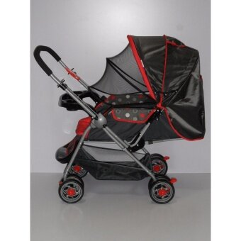 Sweet Heart Paris ST100 Baby Stroller (Dot Red) with Mosquito Cover