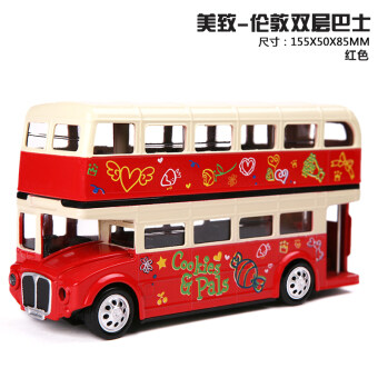 US-induced Model Double Layer bus alloy car model