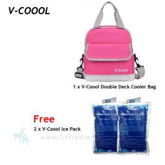 V-Coool Double Deck Cooler Bag Free 2 Ice Pack