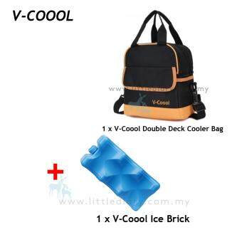 V-Coool Double Deck Cooler Bag Free V-Coool 1 Ice Brick