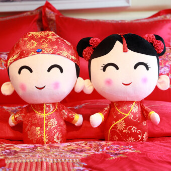 ... couple doll plush toy dollcreative wedding gift wedding room Hi pillow