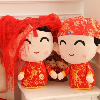 Wedding presses doll one pair of wedding gift plush toys cloth doll ...