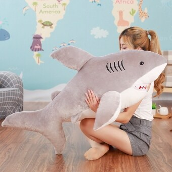 White Shark men girls large VISHARK cute plush toys