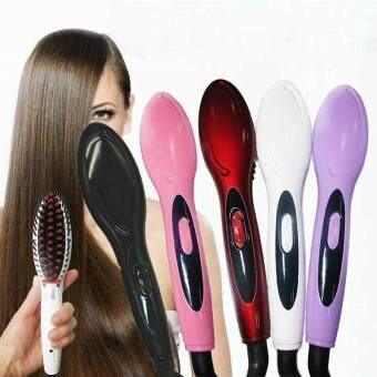 2017 New Style Professional Electric Hair Straightener Comb Hair Brush Straightening Irons Hair Brush (Red)34