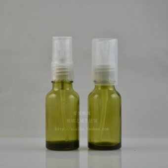 20ml olive green with spray lotion spray bottle glass Essential Oil Bottle