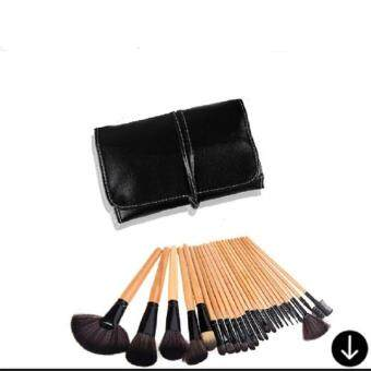 24 Pcs /Set Makeup Brush High Quality Professional Cosmetic SetBlack With Pouch Bag