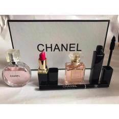 chanel 5 gift set. chanel 5 in 1 gift set makeup perfume box mascara lipstick