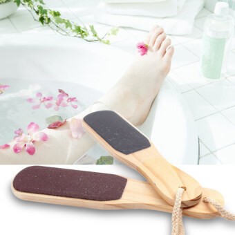 Double-sided Foot File Care Dead Skin Callus Remover Pedicure ToolWood