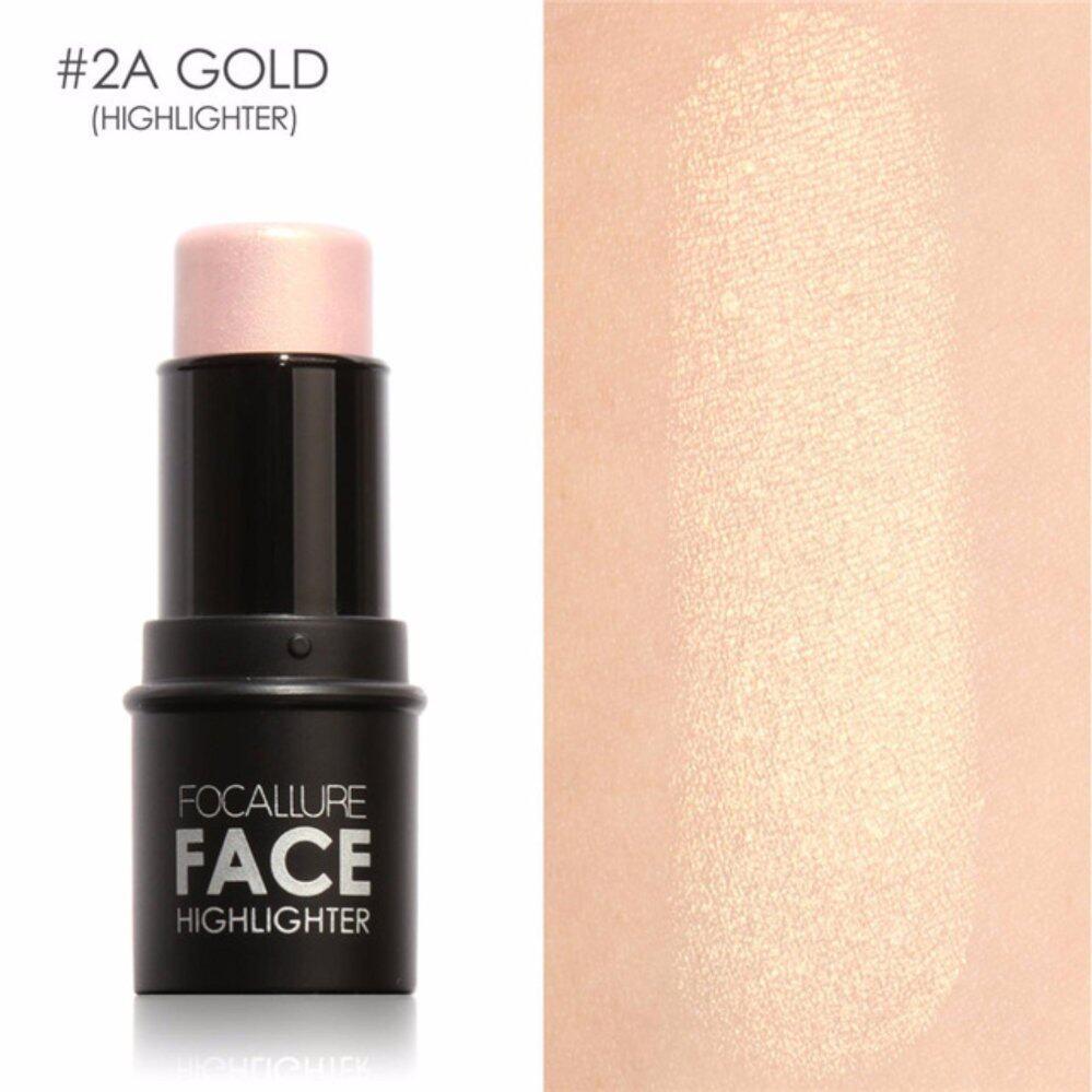 Focallure Bling Highlighter Stick All Over Shimmer Highlighting Powder Creamy Texture Water-proof Silver Shimmer Light 02-Intl