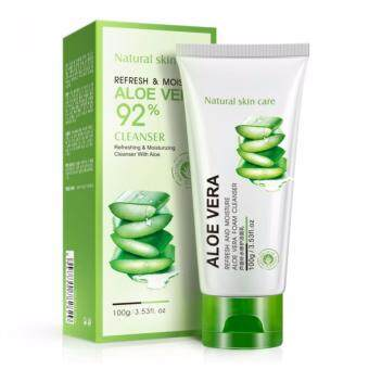 (FREE EYE MASK) BIOAQUA Aloe Vera Acne Deep Cleansing Facial Cleanser (100ml)