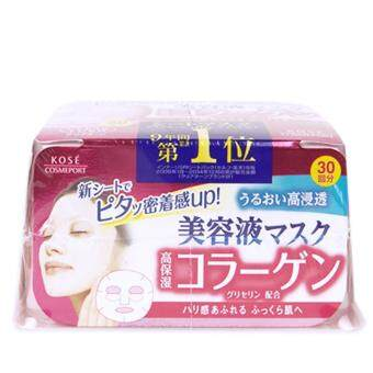 Kose Cosmeport CLEAR TURN Essence Face Mask (Collagen) 30-Sheets